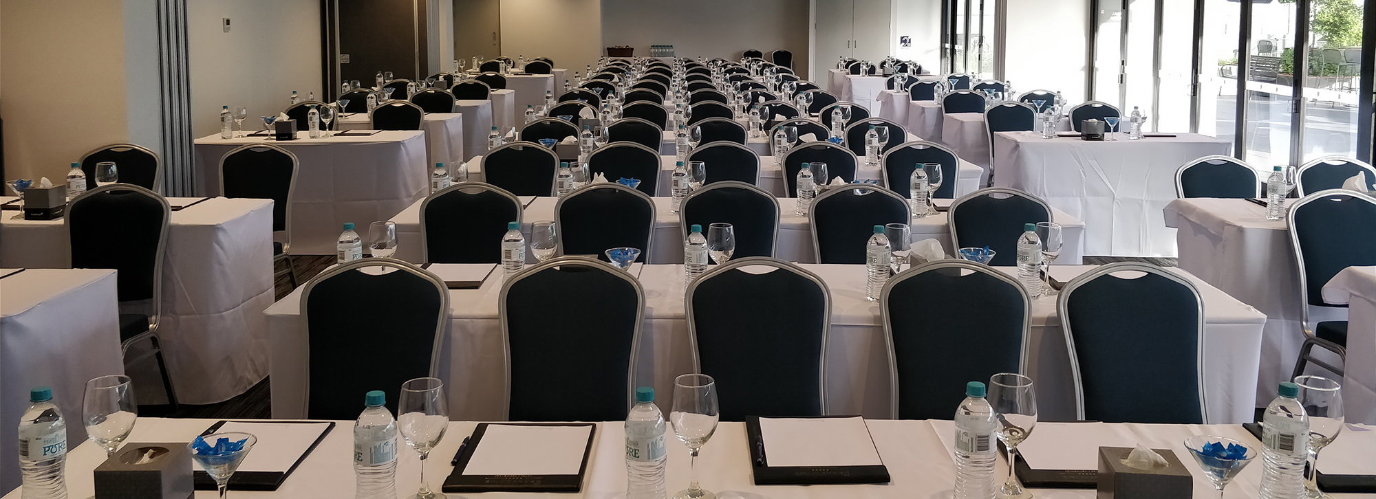 3 conference rooms combined accommodating up to 140 attendees