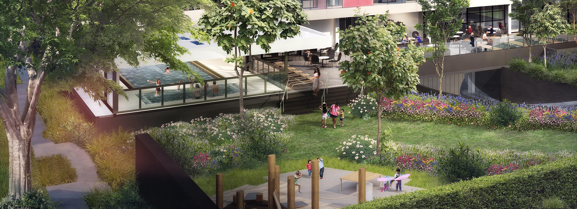 Children's Playground in Landscaped Garden
